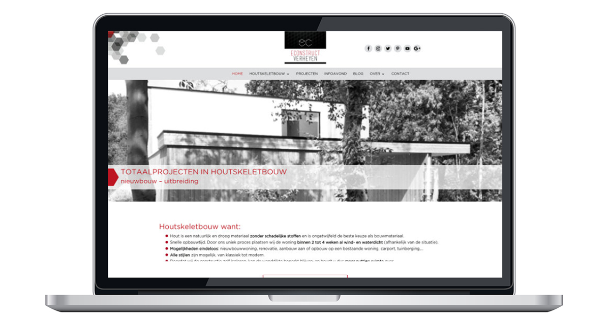 website door an wens webdesign ranst